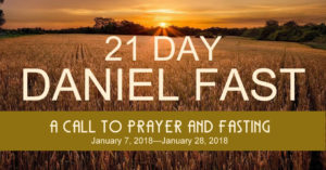 Daniel Prayer and Fast 2018